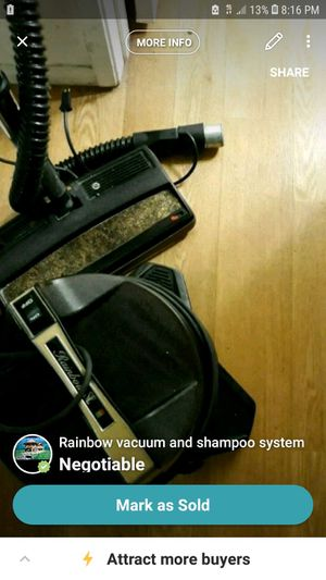 Rainbow vacuum and shampooer combo complete set for Sale in Daly City, CA