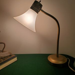 Vintage MidCentury Brass Desk Lamp ,Milk Glass Shade. for Sale in Miami, FL