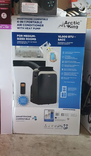 Arctic King 10K Smartphone Compatible Portable Air Conditioner with Heat for Sale in Houston, TX