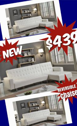 BRAND NEW 9 x 5 SOFA FUTON WITH REVERSIBLE CHAISE $439 WE DELIVER $99 for Sale in Atlanta,  GA