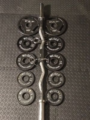 Curl Bar and Weights for Sale in Seattle, WA
