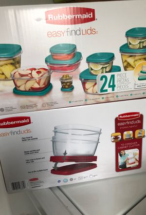 Rubbermaid brand new 24 piece storage containers for Sale in Bloomington, CA