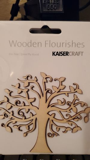 Wooden flourishes Kaisercraft elm tree scrapbooking for Sale in Lawrenceville, GA