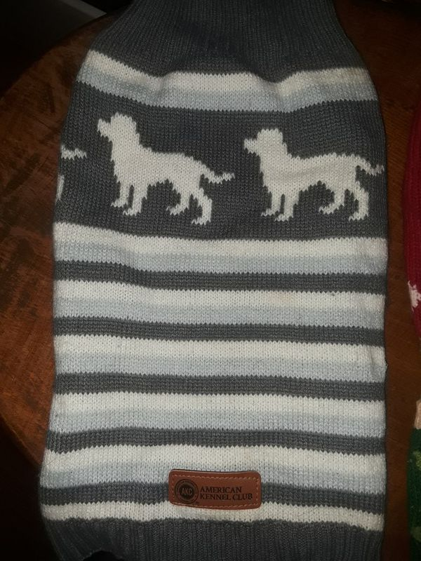 2 Medium Size Dog Sweaters for Christmas