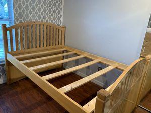 Full bed frame, under bed storage/dresser (4 pieces) for Sale in Tampa, FL