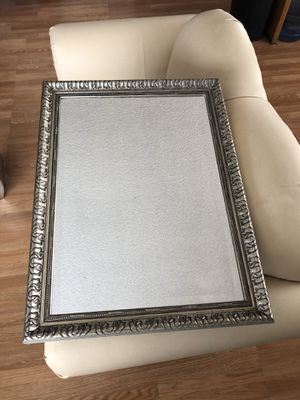 Rectangle 24' x 32' inch wall mirror silver design for Sale in Fontana, CA
