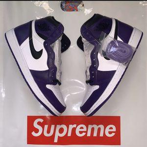 Nike Jordan 1 Court Purple for Sale in Palmdale, CA