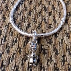 SILVER PLATED BRACELET WITH OLAF CHARM. 6 3/4 IN. LONG for Sale in Philadelphia, PA