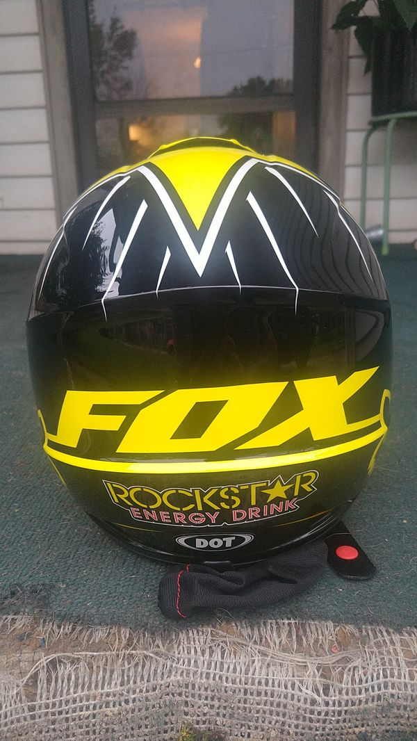 Brand New fox rockstar energy motorcycle helmet