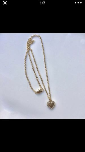 Mk Michael kors heart gold tone necklace pendant chain for Sale in Silver Spring, MD