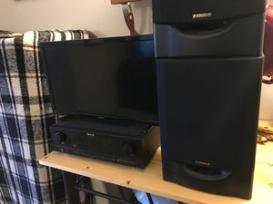 Tv, receiver, speaker set for Sale in Golden, CO