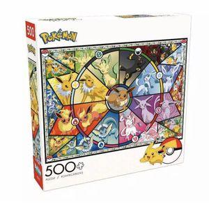 Pokemon Eevee's Stained Glass 500 Piece Jigsaw Puzzle Pikachu Buffalo Games for Sale in Fountain Valley, CA