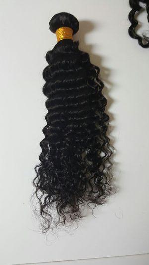 18 Brazilian human hair kinky curly 3bundles for Sale in Glenarden, MD