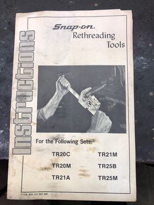 Snap on tools rethreading from 1/2 in to 5-3/4 in for Sale in Minneapolis, MN