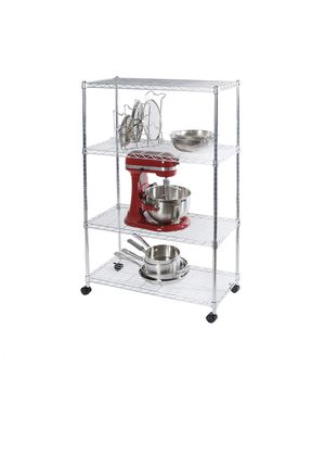 4-Tier Steel Wire Shelving with Wheels for Sale in Tigard, OR