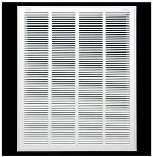 """26"""" X 26"""" Steel Return Air Filter Grille for 1"""" Filter - Removable Face/Door - HVAC Duct Cover - Flat Stamped Face -White [Outer Dimensions: 27.75w X for Sale in Rancho Cucamonga, CA"""
