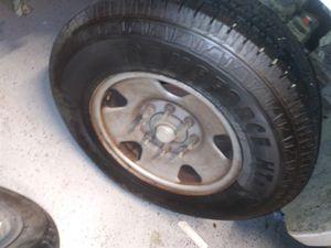 """4"" Ford 8 lug rims brand new firestone tires for Sale in Modesto, CA"