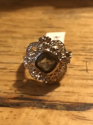 BRAND NEW LADIES RING WITH 6.5CTW SMOKY AND CLEAR CZS SIZE 8 for Sale in Seaford, DE