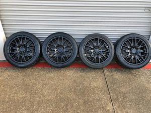 """17"""" Drag black rims with tires for Sale in Fort Worth, TX"""