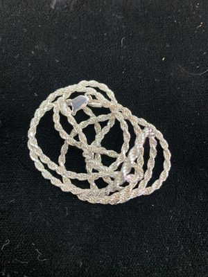 Silver rope chain for Sale in San Angelo, TX