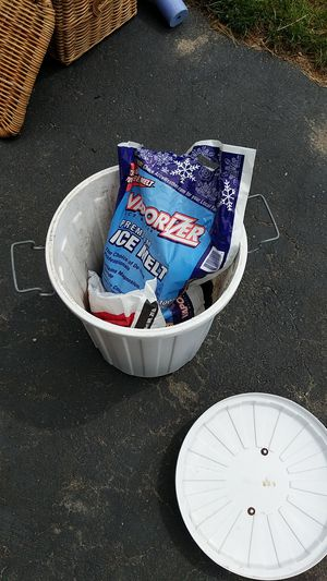 Free Ice melt in bucket for Sale in Concord, MA