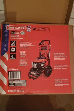 BRAND NEW, BRAND NEW, CRAFTSMANCraftsman 3000-PSI 2.4-GPM Cold Water Gas Pressure Washer with Honda Engine CARB. NUEVA, for Sale in Las Vegas,  NV