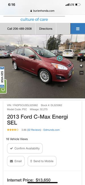 2013 Ford C-Max Energi SEL for Sale in Seattle, WA