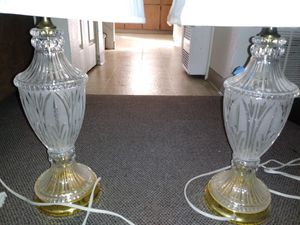 2 matching crystal and Gold lamps for Sale in Oakland, CA