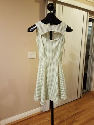 Romeo + Juliet Coture Open Chest Dress Lime/White Plaid Womens Size Small for Sale in Glendale, CA