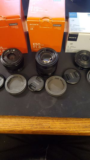 Sony APS-C Lenses: 20mm, 35mm, 50mm for Sale in Seattle, WA