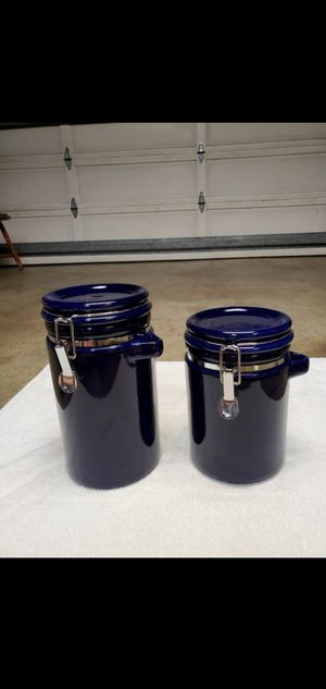 Ceramic Storage Containers 2 for $12. for Sale in San Lorenzo, CA