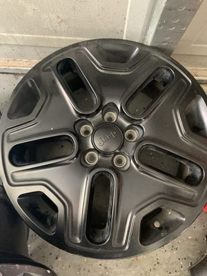 2018'jeep renegade Trailhawk factory 17 in black chrome wheels. for Sale in Sachse, TX