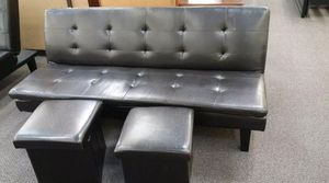 Brand new sofa bed with two storage ottomans for Sale in Silver Spring, MD