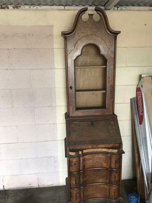 Antique , front secretary desk. 2 piece for Sale in Lincoln Acres, CA