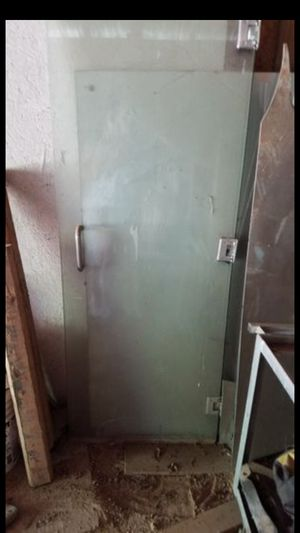 Very heavy glass shower door for Sale in New Caney, TX