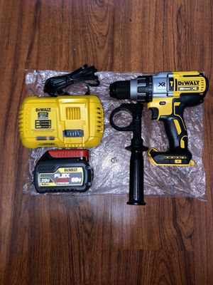 "Dewalt 20v Max XR Brushless 3-Speed 1/2"" Hammer Drill Kit (1) Dewalt Flexvolt 20v/60v 6.0 Ah Battery Pack (DCB606) (1) Dewalt 20v Max Fast Charger for Sale in The Bronx, NY"