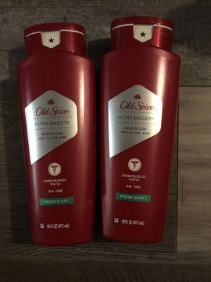 Old spice ultra smooth fresh start body & face wash $3.50 each for Sale in San Bernardino, CA