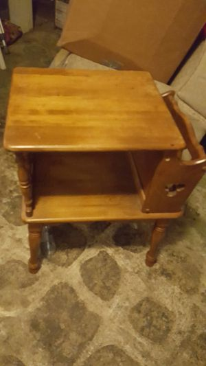 Antique magazine holder side table for Sale in Tooele, UT
