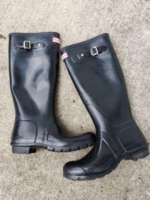 Hunter women size 6 rain boots for Sale in Bellwood, IL
