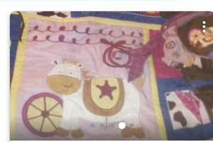 9 pcs baby bedding set and mobile for Sale in Hannibal, MO