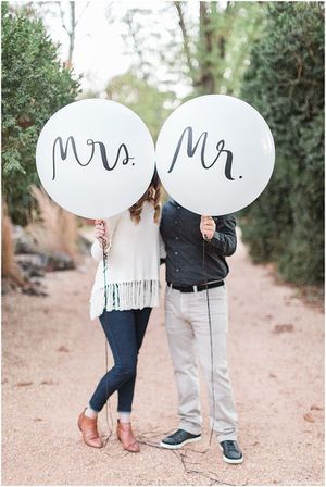 Mr. & Mrs. helium balloons for Sale in Meridian, ID
