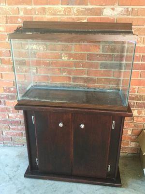 35 gal aquarium w wood cabinet for Sale in Decatur, GA