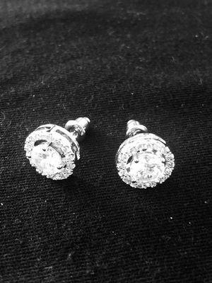 Sterling silver / CZ round earrings for Sale in Las Vegas, NV