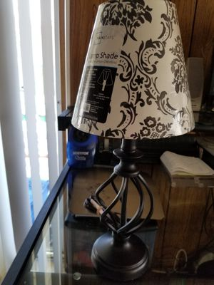 Black wrought iron lamp with shades all new for Sale in San Diego, CA