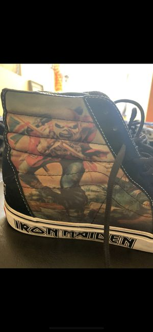 """Up For Sale is a Pair of Rare Limited Production Iron Maiden """"Killers"""" Vans Hi-Top Shoes. Size 11.They are Preowned and are in very wearable condit for Sale in Simi Valley, CA"""