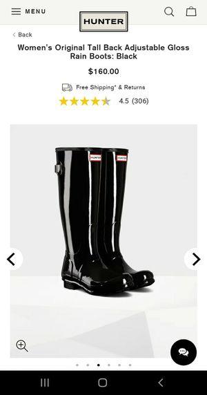 HUNTER Rain Boots size 8 for Sale in Nashville, TN