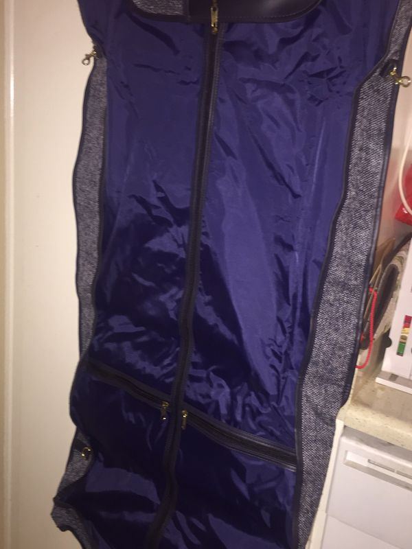 Fifth AvenueTweed travel garment bag/luggage suit