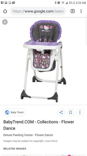 Hello kitty 5 package set...included bouncer, pack and play with bassinet and changing table, high chair,stroller and car seat combo.swipe to see all for Sale in Boston, MA