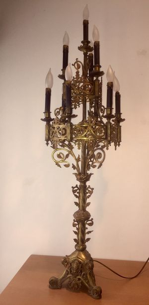 Antique Candelabra Solid Brass Light for Sale in Oyster Bay, NY