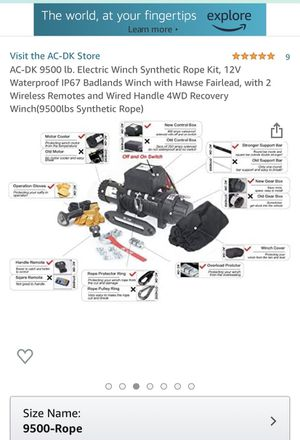 12V Electric Winch Brand new for Sale in Whittier, CA